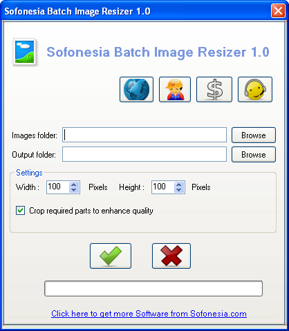 Screenshot of Batch Image Resizer 1.0