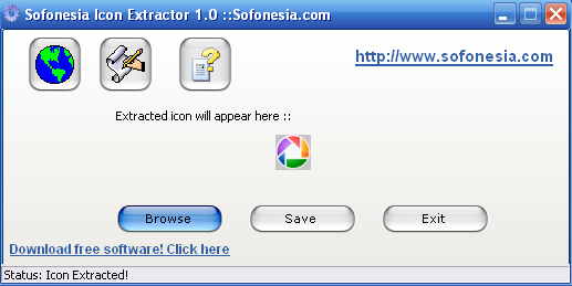 Screenshot of Icon Extractor 1.0